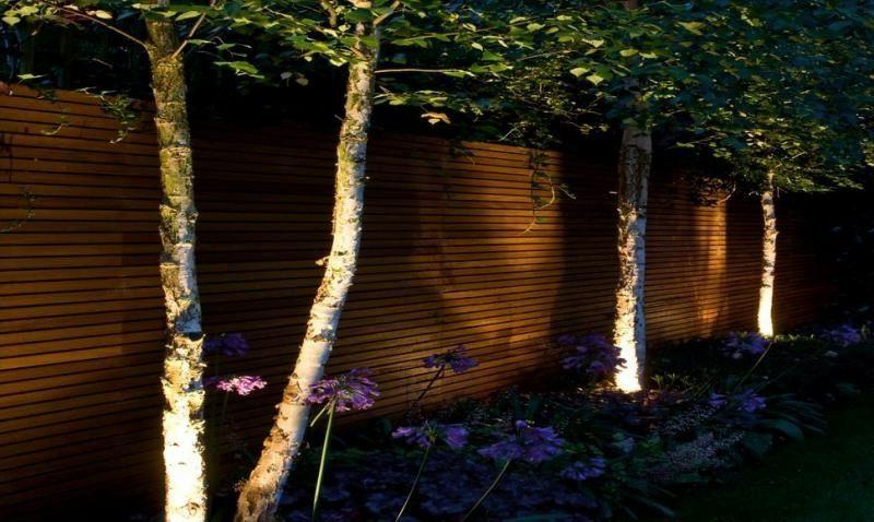 Gartenzaun Beleuchtung