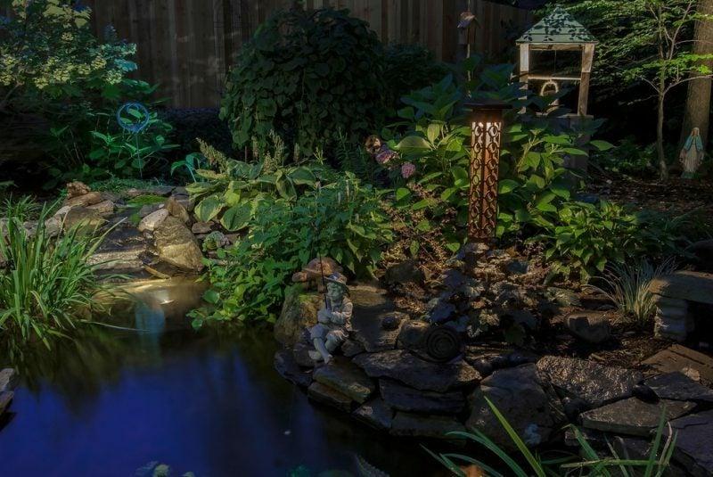 Spotlicht LED Beleuchtung im Garten