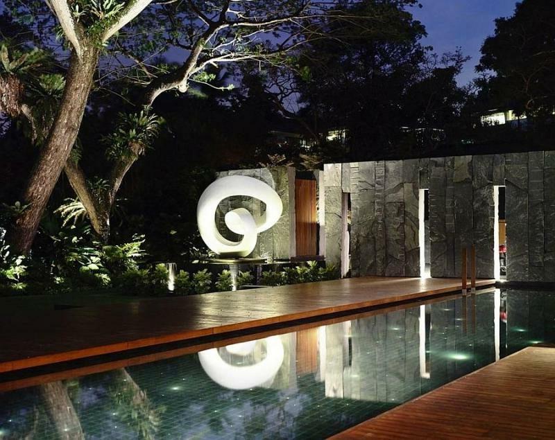 LED Gartenbeleuchtung kreative Gestaltung des Gartens