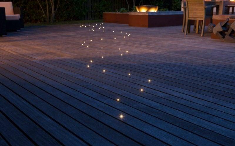 LED Gartenbeleuchtung eingebaut Spotlights