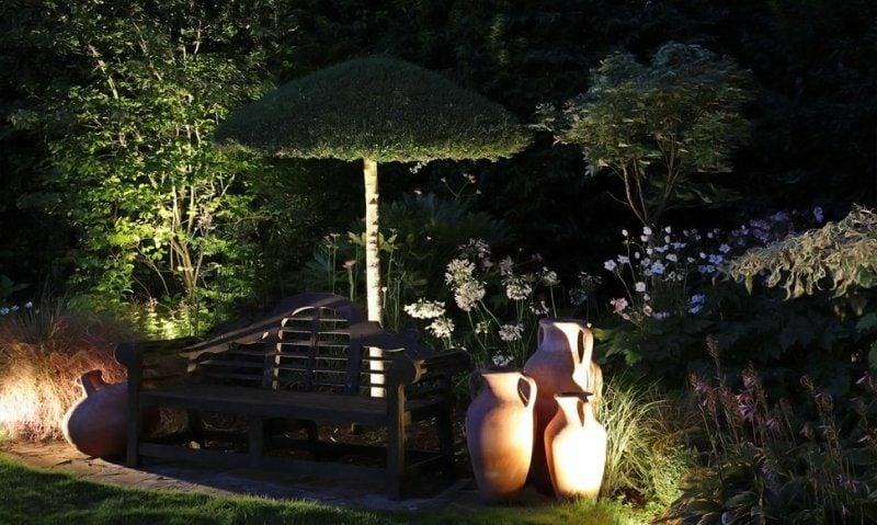 indirektes LED Gartenbeleuchtung