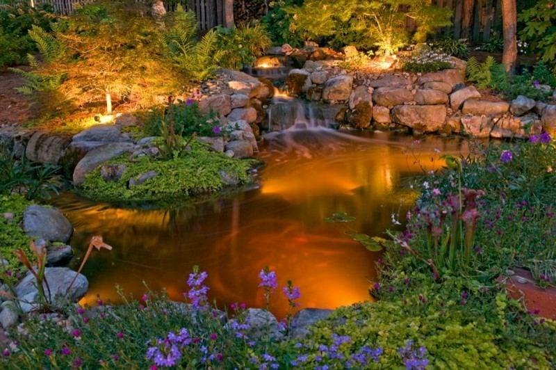 zauberhafte Gartenlandschaft LED Gartenbeleuchtung