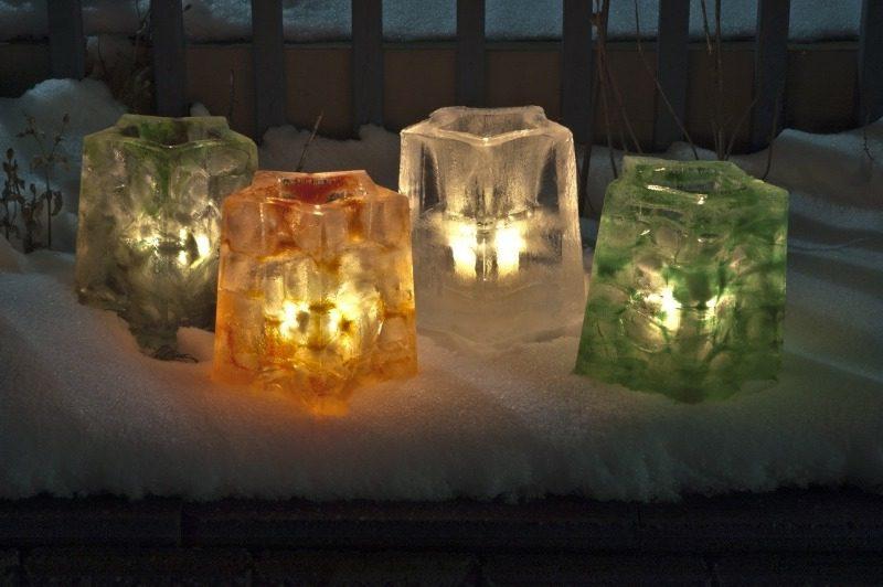Leuchten in Eis Optik LED Gartenbeleuchtung