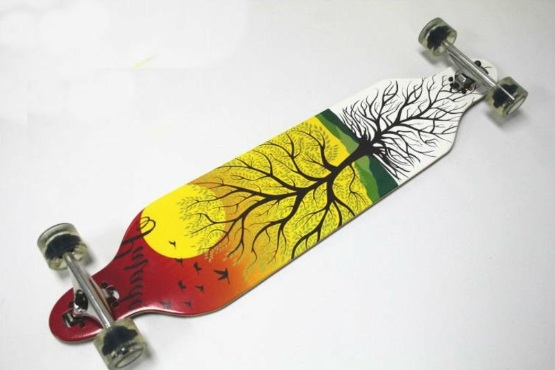 Longboard Arten Full maple skate longboard