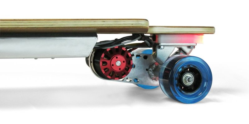 Longboard Arten Slim Electric Motor Rear Close Up
