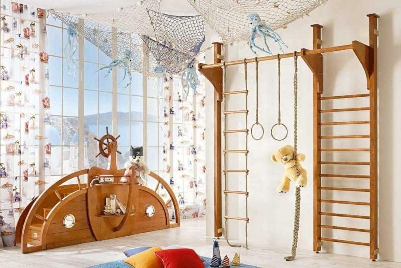 Kinderzimmergestaltung maritimer Stil