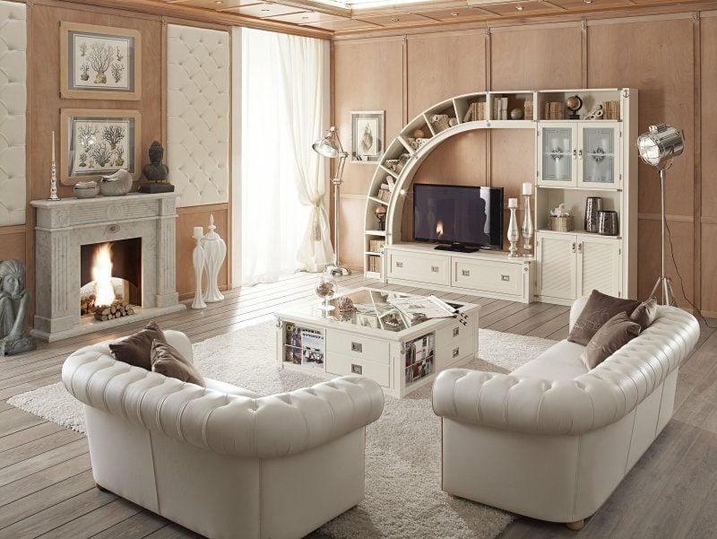 Wohnzimmerdesign maritime Möbel