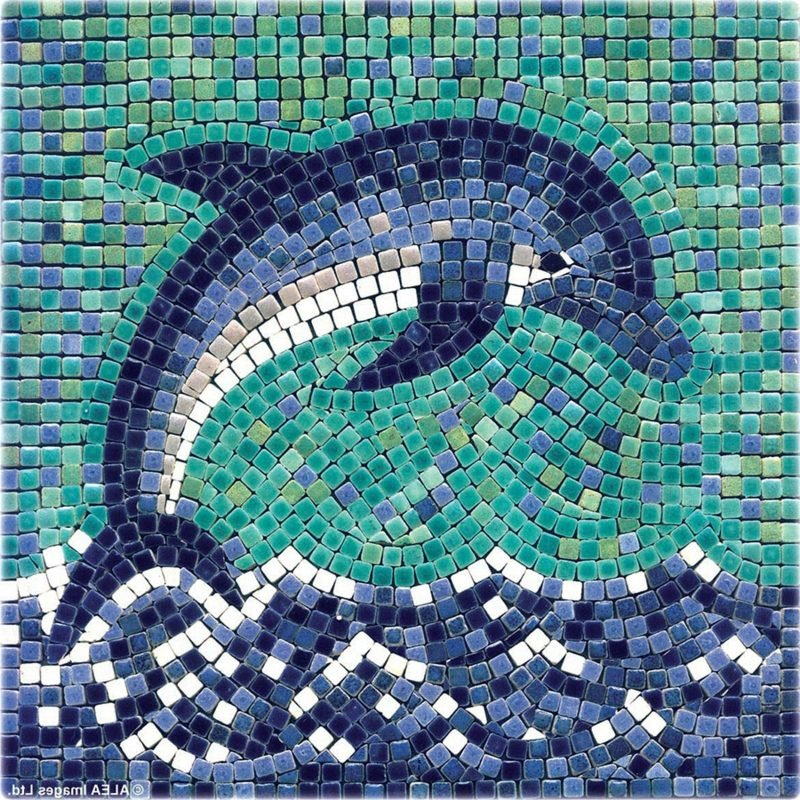 Mosaik basteln Delfin