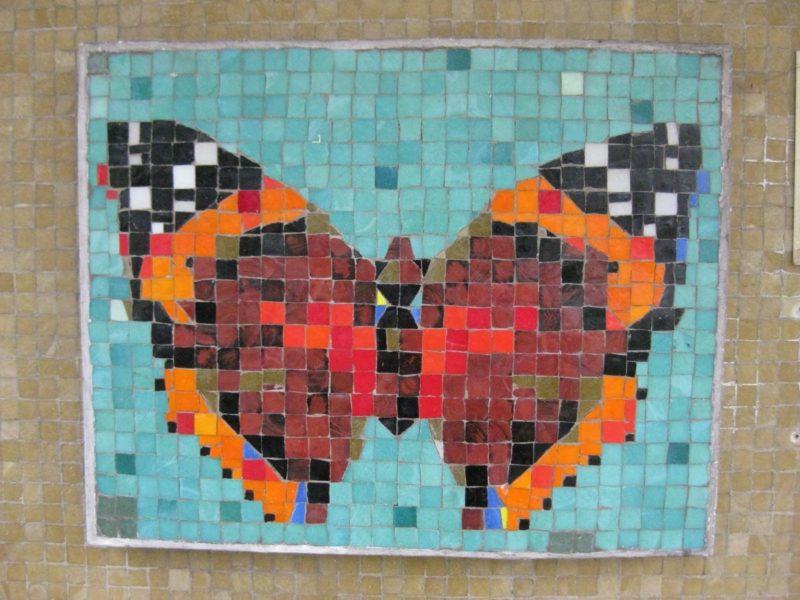 Schmetterling Mosaik basteln