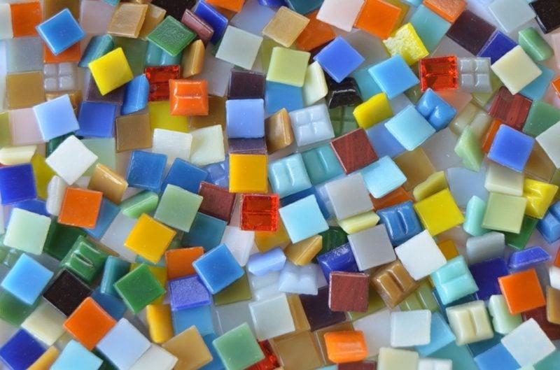 Mosaik basteln kreative Ideen DIY