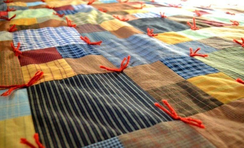 patchworkdecke anleitung bastelideen deko feiern diy zenideen. Black Bedroom Furniture Sets. Home Design Ideas
