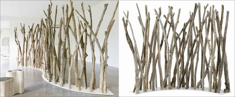 Raumtrenner tree branch divider wood