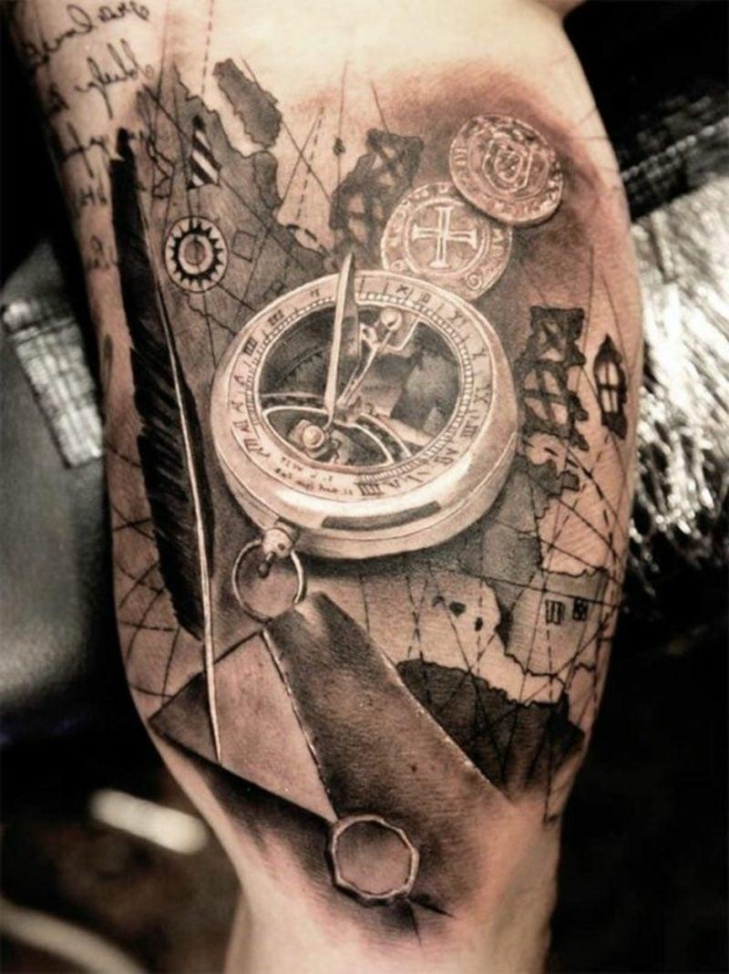 Sanduhr Tattoo Pocket Watch Tattoo