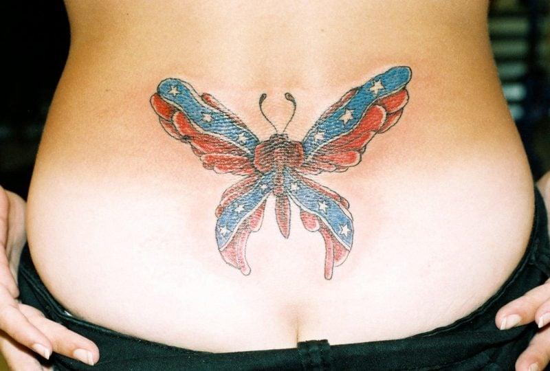 Schmetterling Bedeutung Tattoo on Hip