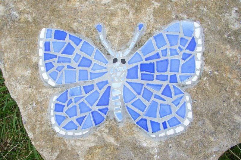 Mosaik basteln Schmetterling