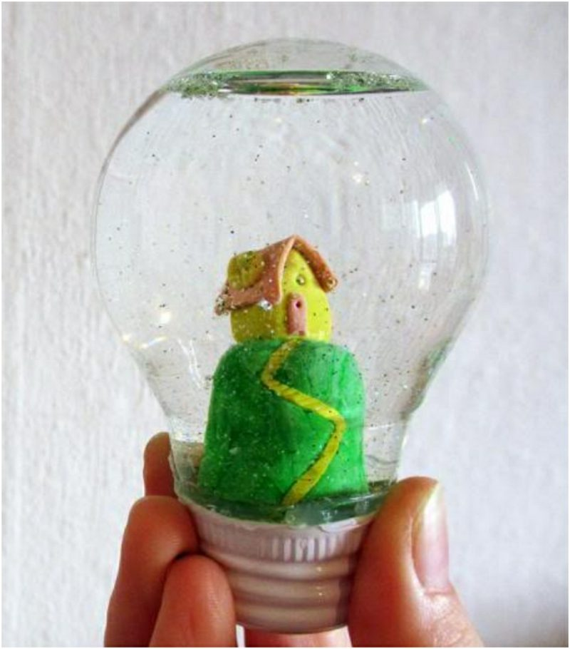 Schneekugel selber machen How light bulb