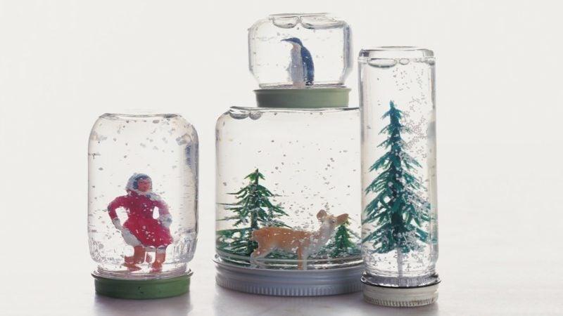 Schneekugel selber machen