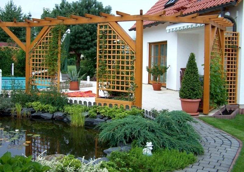 Gartensichtschutz Spalier