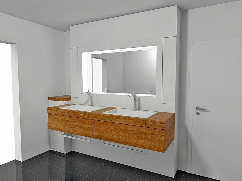 beleuchteter Spiegel Badezimmer