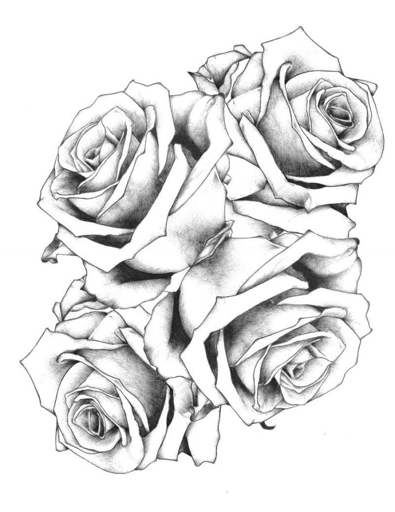 Tattoovorlagen kostenlos Rosen