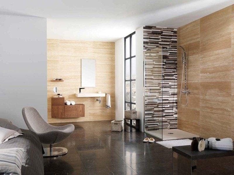 travertin fliesen 25 ideen f r innen und au enbereich. Black Bedroom Furniture Sets. Home Design Ideas