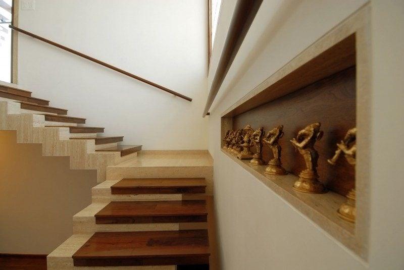 Treppe Verkleidung Travertin Fliesen