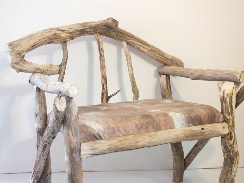 Sitzbank aus Treibholz