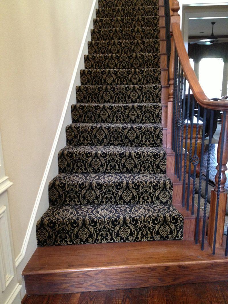 Treppenteppich mit originellem Design