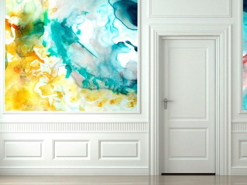 herrliche Wandbemalung mit Aquarell Effekt