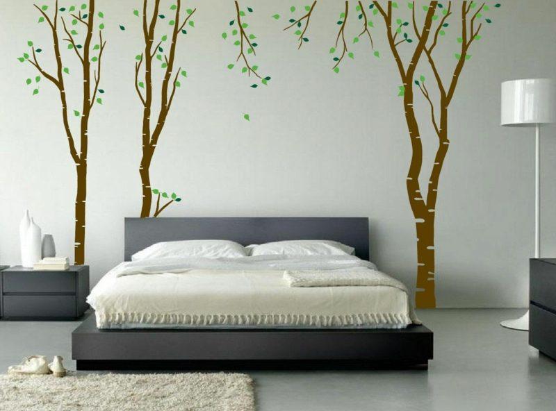 kreative Wandbemalung Schlafzimmer