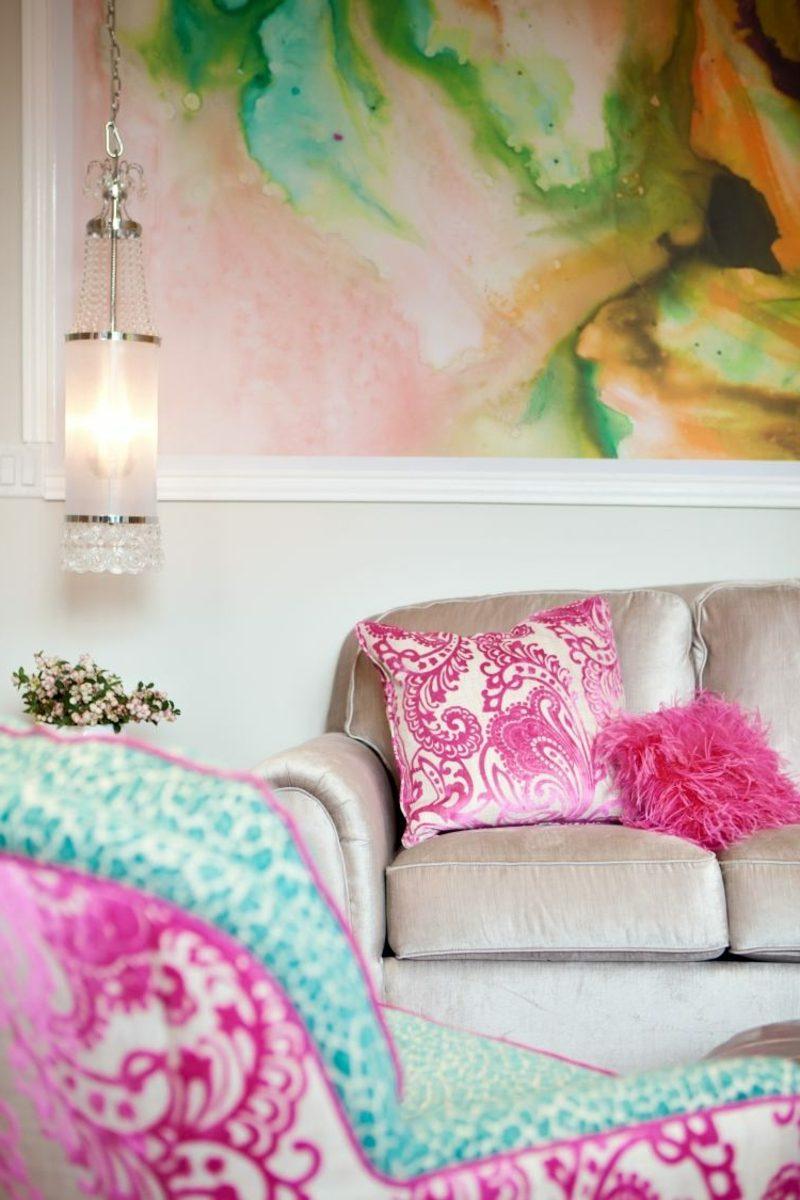 Wohnzimmergestaltung Wandmalerei