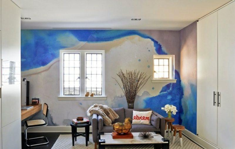 Wandmalerei in Wasserfarben