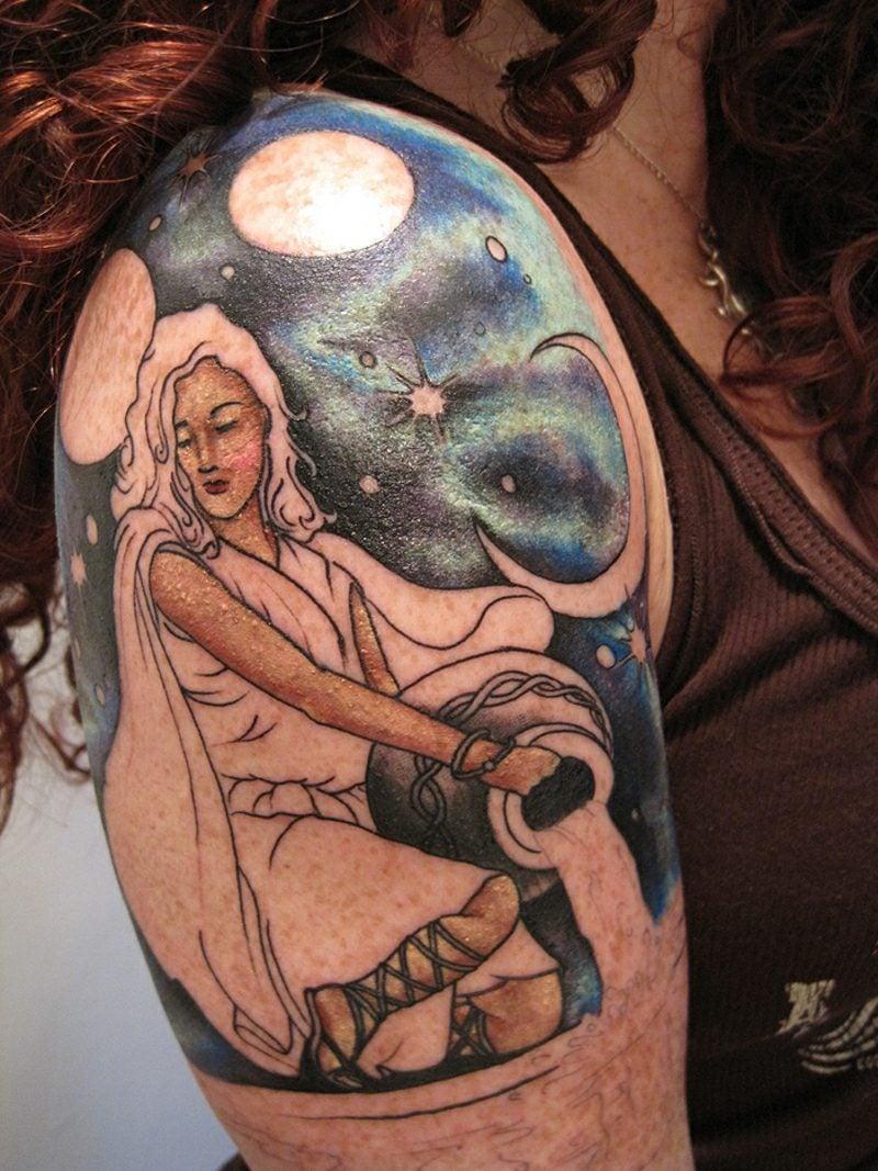 Wassermann Tattoo Aquarius