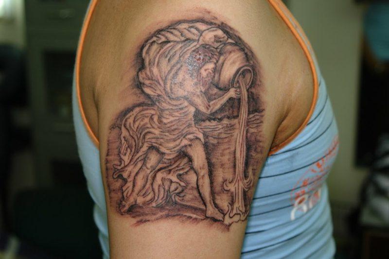 Wassermann Tattoo Cool Aquarius Tattoo