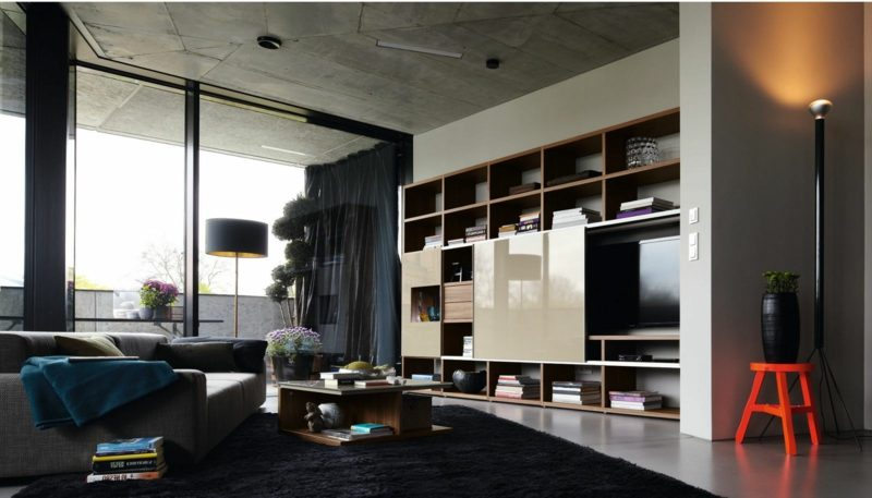 wohnwand h lsta architektur innendesign wandverkleidung zenideen. Black Bedroom Furniture Sets. Home Design Ideas