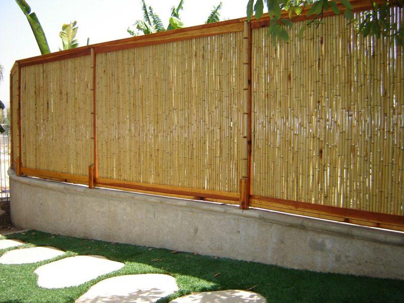 Gartengestaltung Bambuszaun