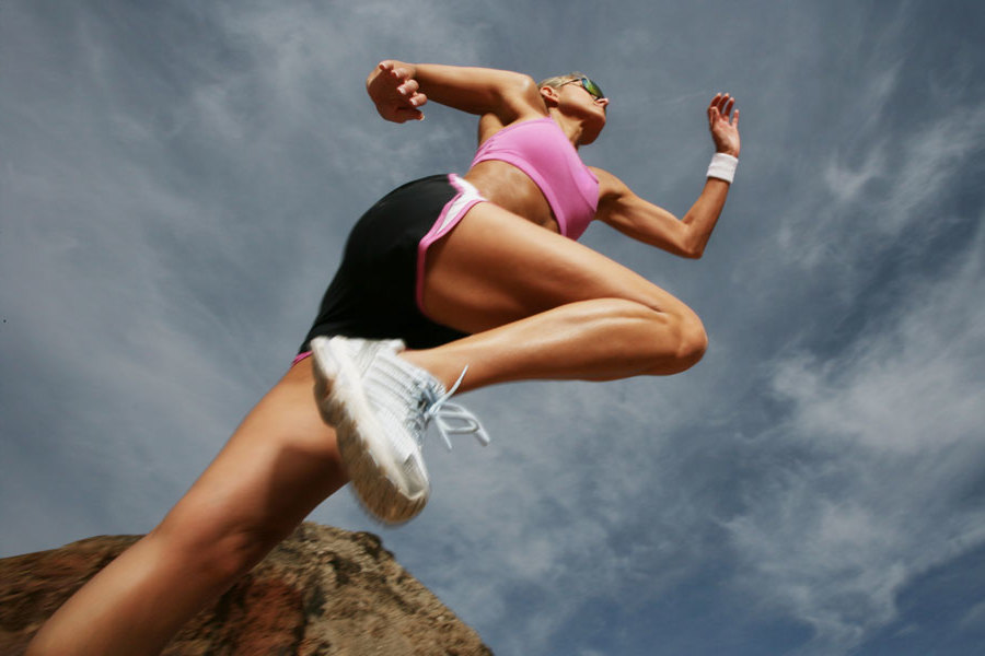 gesundes aerobes training