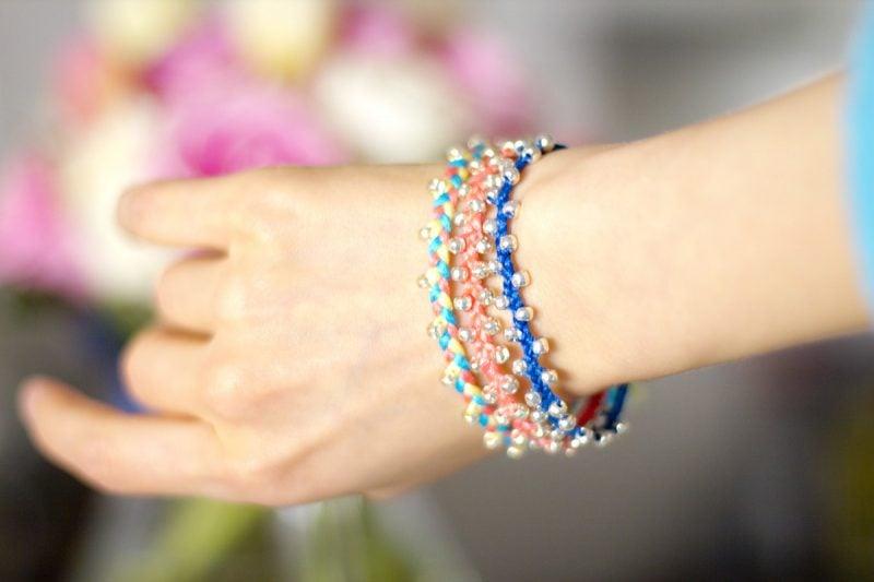 armbänder flechten perlen