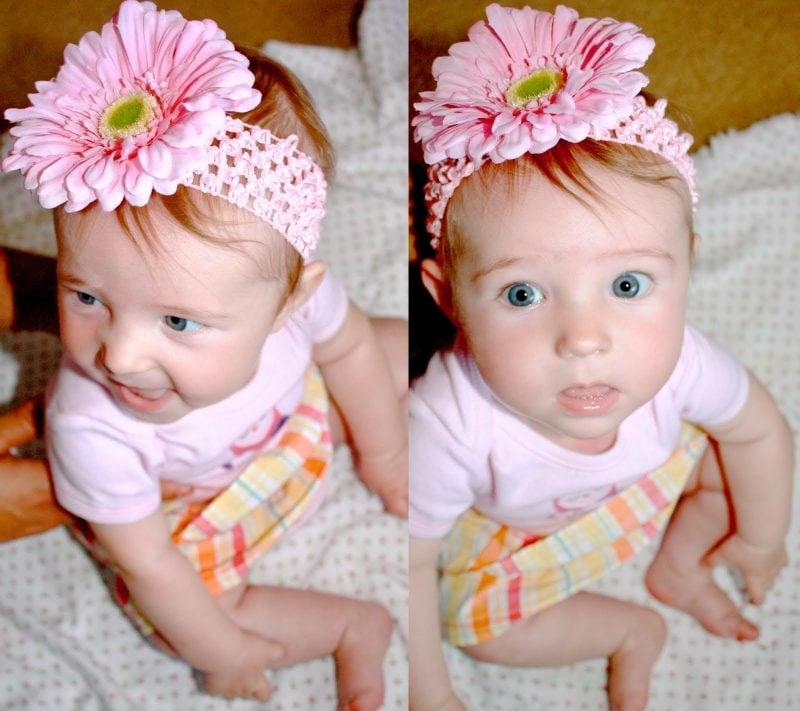 Baby Haarband Blume