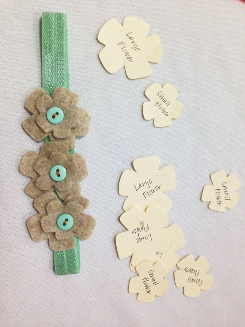 Baby Haarband Blumen aus Papier