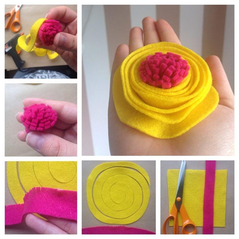Baby Haarband Blumen DIY