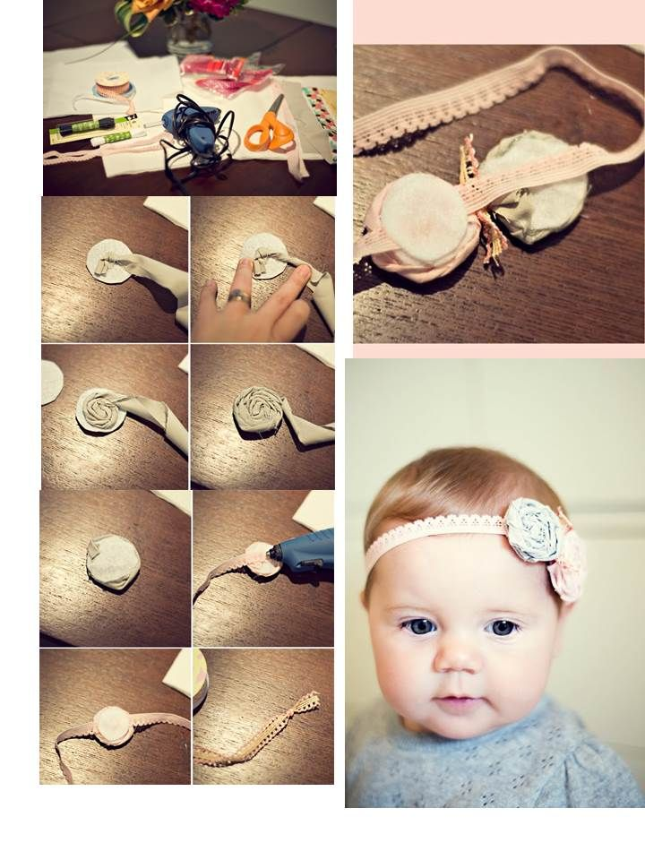Baby Haarband DIY selber machen
