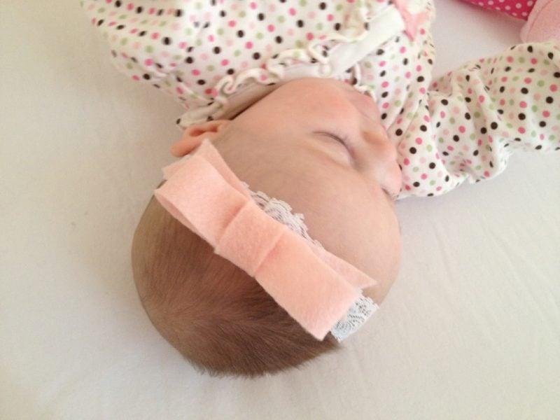 Baby Haarband Fertig