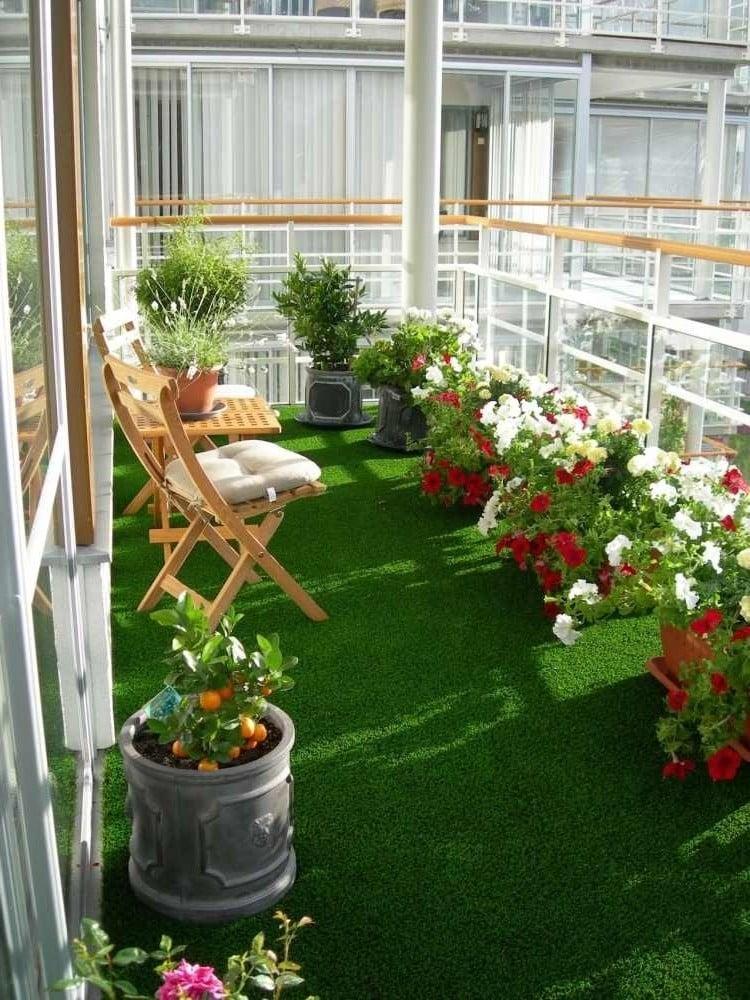 balkonboden grün