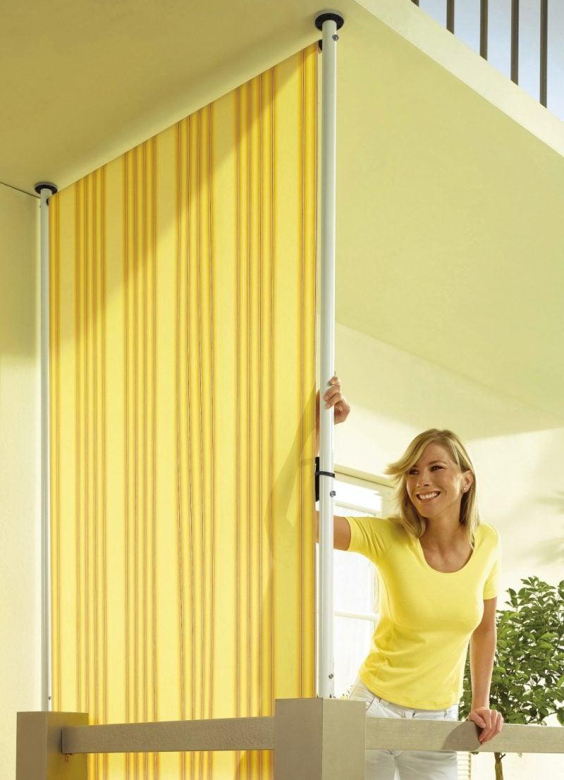 Balkonumrandung Seitenschutz