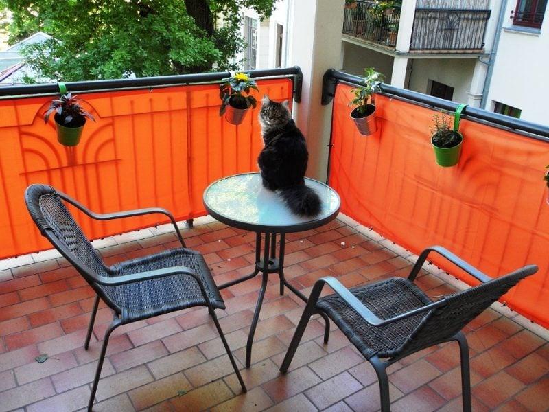 Balkonumrandung Orange