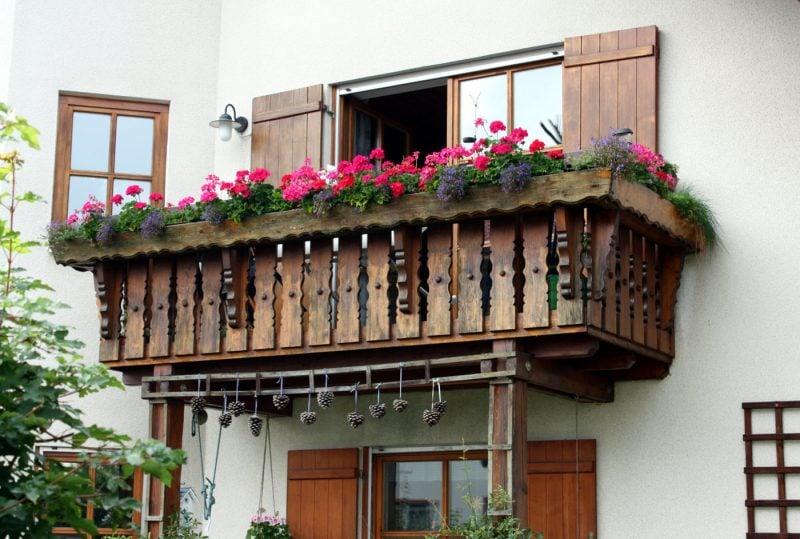 Balkonumrandung Holz Sichtschutz