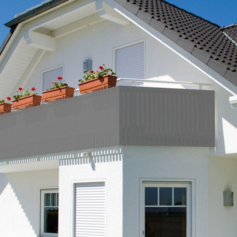 Balkonumrandung Stoff
