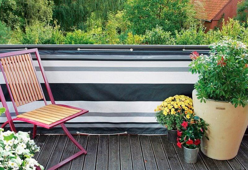 Balkonumrandung Stoffart