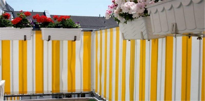 balkonverkleidung gelb